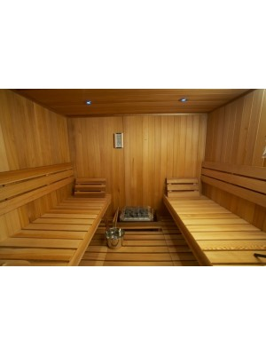 3020038-01 Sauna Bench, Backrest, Heater Guardrail