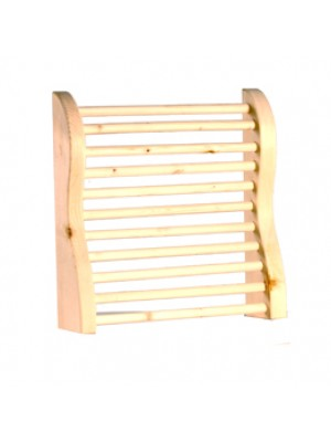 Curved Hemlock Sauna Headrest
