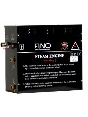 13 KW FINO Steam Generator including Digital Controls and 2 Aromatherapy Steamheads