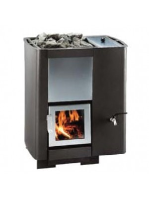 Polar Wood Burning Sauna Stove - KS 20V PK with built in 5.8 Gallon Water Tank