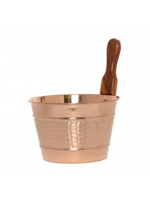 Luxury Finnish Sauna Bucket in Copper