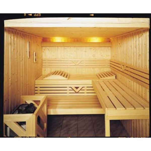 Custom Sauna Kit with Optional Indirect LED Strip Lighting Package