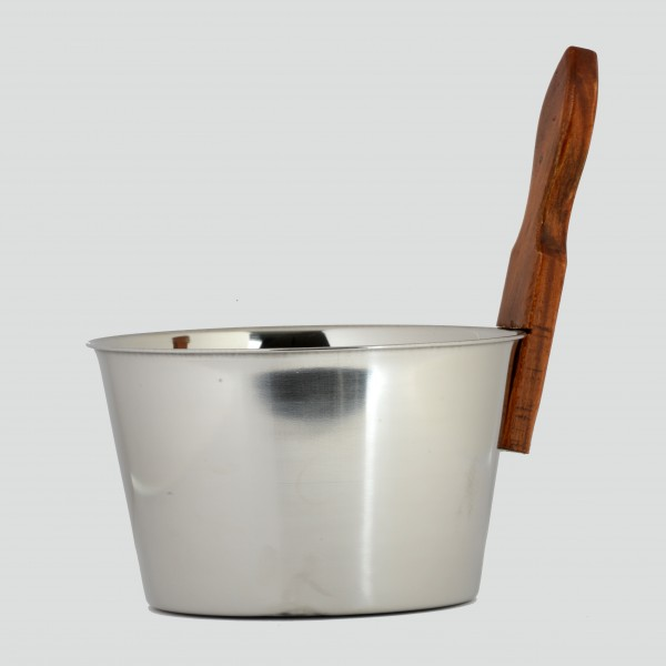 FINO Sauna Bucket in Stainless Steel