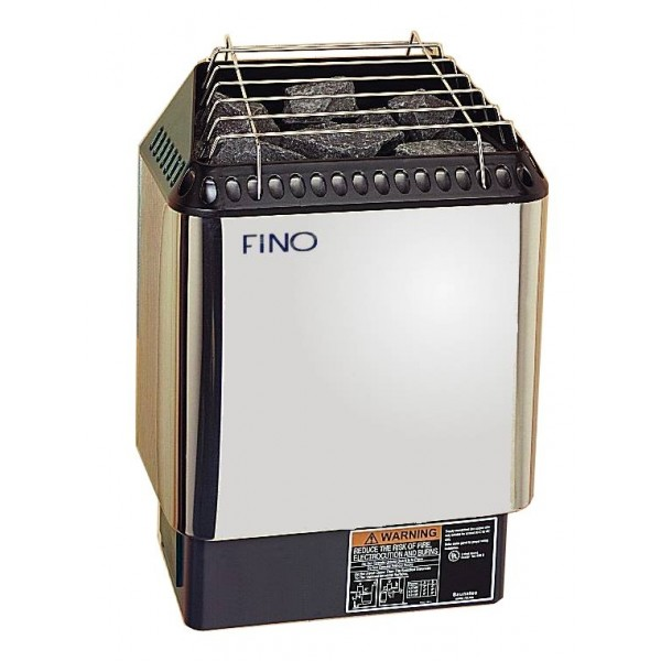 FINO HNVR 60-3 Phase Digital Sauna Heater in Stainless Steel