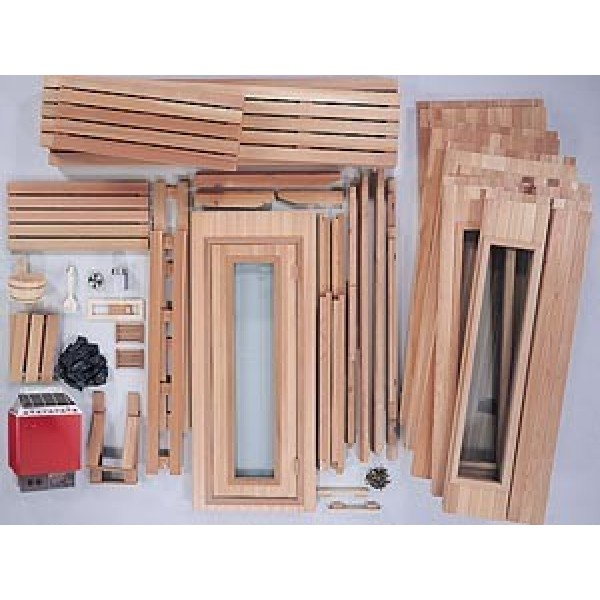 PB67 Pre-Built, Modular Sauna Room Kit Contents